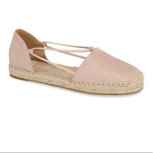 Lee Espadrille Flat In Blush Printed Suede